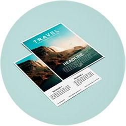 Sur un salon, en street marketing ou en publipostage, augmenter votre visibilité grâce au flyer Sarth'Enseignes